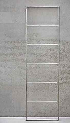 Jan Kurtz Hip Metall Handtuchhalter EDELSTAHL matt gebürstet HIP Handtuchleiter Stummer Diener Garderobe 7 Sprossen 50x170cm Innen & Aussen