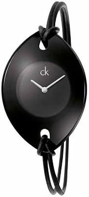 Calvin Klein Calvin Klein Suspension K3323330 - Reloj para mujeres, correa de cuero color negro