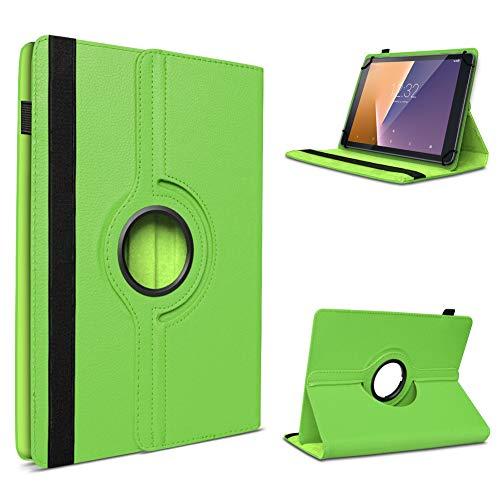 UC-Express Tablet Hülle kompatibel für Vodafone Tab Prime 6/7 Schutzhülle aus Kunstleder Tasche mit Standfunktion 360° drehbar Universal Cover Case, Farben:Grün