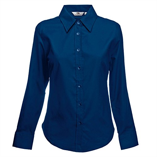 Fruit of the Loom Ladyfit Oxford Langarm-Shirt Black