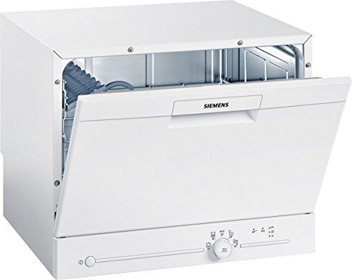 Siemens SK25E203EU iQ100 speedMatic Compact-Geschirrspüler / A+ / 6 MGD / dosierAssistent / extrem leise / iQdrive-Motor / Beladungs-Sensor / weiß -