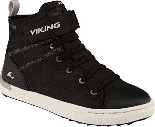 Viking Unisex-Kinder Skien Mid Hohe Sneaker Schwarz (Black/White)