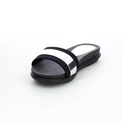 Sandales métallisées pour femme ultra confortable Argenté