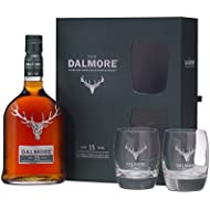 Dalmore Malt Scotch Whisky 15 Year Old Glass Gift Pack, 70 cl