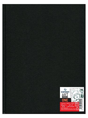 canson-5569-one-blocco-per-schizzi-con-copertina-rigida-100-g-mq-216-x-279-cm-100-fogli-colore-nero