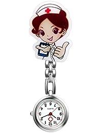 LANCARDO Reloj Médico de Bolsillo Colgante Enfermera Prendedor Broche  Movimiento Cuarzo Clip Uniforme Paramédico Regalo Gracias 083124b480fb