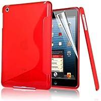 Compact Style S linea di Apple IPAD 4 della copertura della cassa del gel dell'onda silicone per Apple Ipad 4, Ipad3 Ipad 2 RED