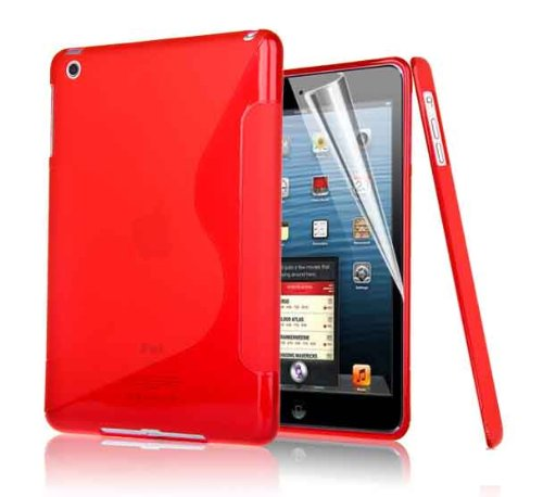 G4GADGET® S Line Apple IPAD 4 Wave Gel Silicone Case Cover For Apple Ipad 4, Ipad3 Ipad 2 RED
