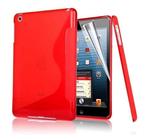 La copertura della cassa Outstanding Value S linea dell'onda del gel del silicone per Apple IPAD AIR RED