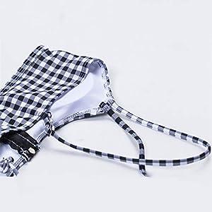 WYEING. Costume da Bagno Donna Sexy Push Up Bikini Plaid Bowknot Costumi da Bagno Due Pezzi Mare E Piscina S-XL,S