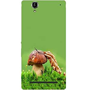 Casotec Mashroom Grass Design Hard Back Case Cover for Sony Xperia T2 Ultra