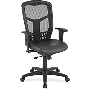 Lorell - Executive Chair, Adjustable, Leather/Black, Sold as 1 Each, LLR86208