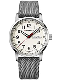 Wenger Men's 'Sport' Swiss Quartz Stainless Steel and Nylon Casual Watch, Color:Grey (Model: 01.1541.106)