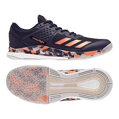 adidas Herren Crazyflight Bounce Volleyballschuhe, Blau (Legend Ink/Hi-RES Orange/Grey Two), 42 EU (Adidas Herren Schuhe Volleyball)