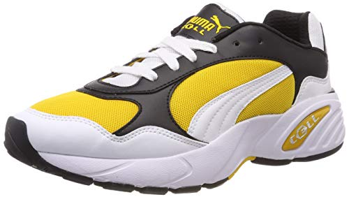 Puma Cell Viper, Zapatillas Unisex Adulto, Blanco White-Spectra Yellow, 36 EU