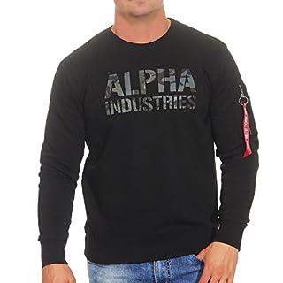 Alpha Industries Camo Print Sweatshirt Schwarz/Schwarz XXL