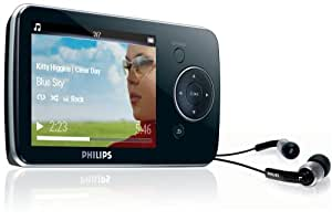 Philips GoGear Opus 8GB MP3 and Video Player with 2.8 Inch LCD (works with BBC iPlayer)