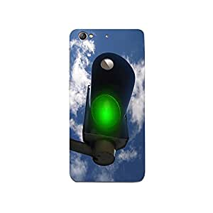 Mikzy Green Signal With Cloud Effects Printed Designer Back Cover Case for LeTv Le 1s