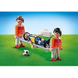 Playmobil 9826sanitario con jugador de fútbol (pantalla del paquete)