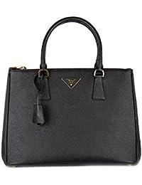818ca2eac36cd Prada Handtasche Damen Tasche Schultertasche Messenger Bag galleria lux  Schwarz