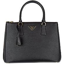 1831709c252e0 Prada Handtasche Damen Tasche Schultertasche Messenger Bag galleria lux  Schwarz
