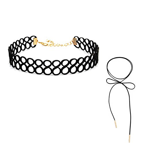 Tomwell Halsbänder Damen Weihnachten Schneeflocken Samt Kette Tattoo Choker Set Joker Halsketten Hoker Halskette Gothic Halsband Stil F One Size