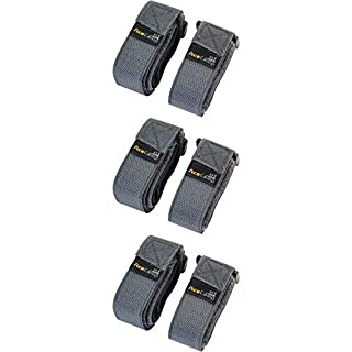 AceCamp 3 x 2 Packing Strap 2.5 x 90 cm All-Purpose Belt Mounting Strap, Bike, Sport, 3-Pack Gray, 91140