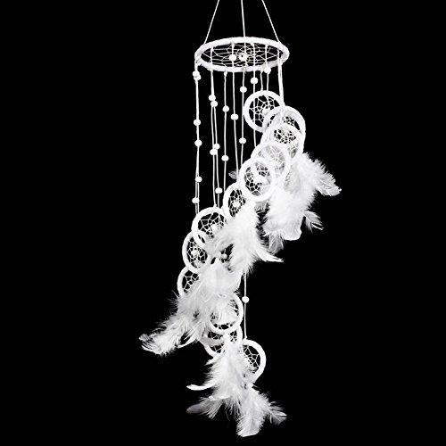 Loveble Hundgemachte Traumfänger Feder Treppen Styling Dreamcatcher Rund Net Für Auto Kinder Bett Zimmer Wundbehang Dekoration Dekor Ornament Hundwerk