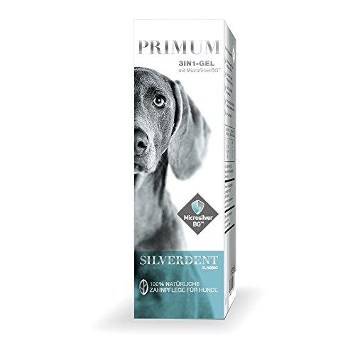Primum SilverDent 3in1 | Gel 125ml | 100% natürliche Zahnpflege für Hund und Katze | Gegen Zahnstein, Karies und Zahnfleischentzündungen | Schützt vor Bakterien | Bekämpft unangenehmen Mundgeruch (Natural Pet Medizin)