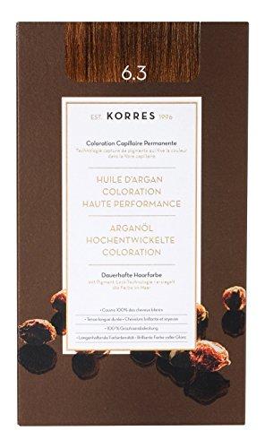 Korres Argan Öl hochentwickelte Coloration golden/honey,dark blonde 6.3, 145ml (Golden Blonde Dark Haar-farbe)