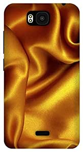 The Racoon Grip Gold Silk texture hard plastic printed back case / cover for Huawei Honor Bee