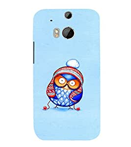 EPICCASE Curious owl Mobile Back Case Cover For HTC One M8 (Designer Case)