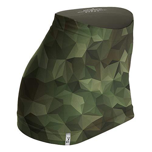 Kidneykaren Nierenwärmer Basic- Tube Multifunktion Yogagurt Fitness & Freizeit Camouflage (grün), Größe:XS