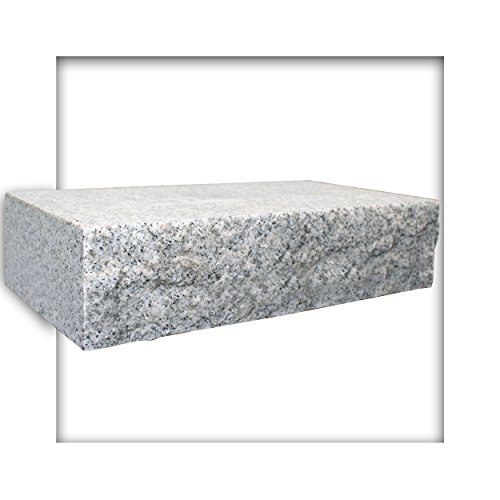 Mauerstein Granit G603 Naturstein hellgrau 40x20x10 cm gesägt Trockenmauer 10 Steine (ca. 0,4 m²)