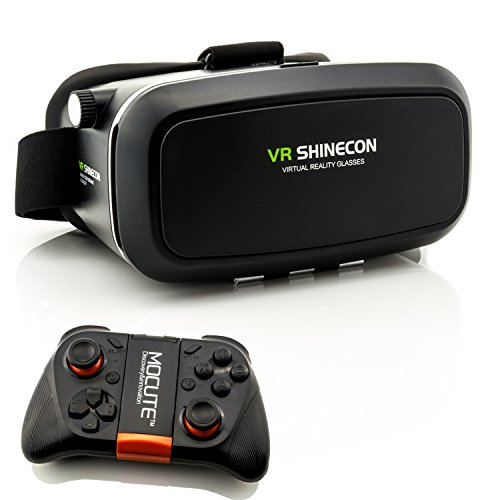 3D VR Brille für Virtual Reality + Mocute Bluetooth Gamecontroller - VR Headset mit Fernbedienung...
