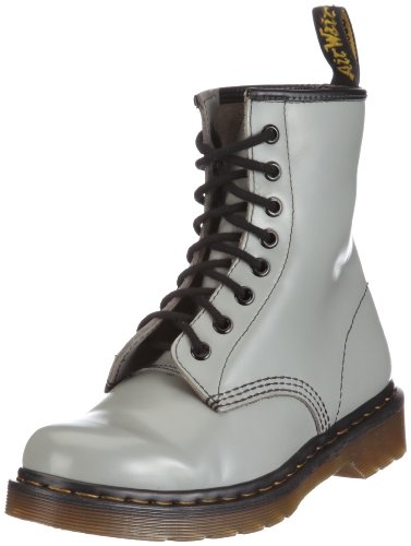 Dr. Martens 1460 8 Eye Boot BROWN 11822212  Unisex - Erwachsene Stiefel, Grigio (Smooth Grey), 39 EU
