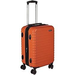 AmazonBasics - Maleta rígida - 55 cm Tamaño de cabina, Naranja fuerte