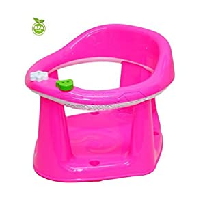 Baby Toddler Child Bath Support Seat BPA FREE Safety Bathing Safe Dinning Play 3 In 1 PINK MWR (PINK)