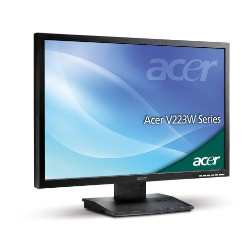 Acer V223W 55,9 cm (22 Zoll) Widescreen TFT Monitor (Kontrast dyn. 2500:1, 5 ms Reaktionszeit), schwarzmatt -