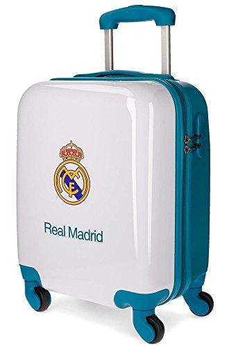 Real Madrid Lets Go Equipaje de mano, 46 cm, 26 litros, Blanco