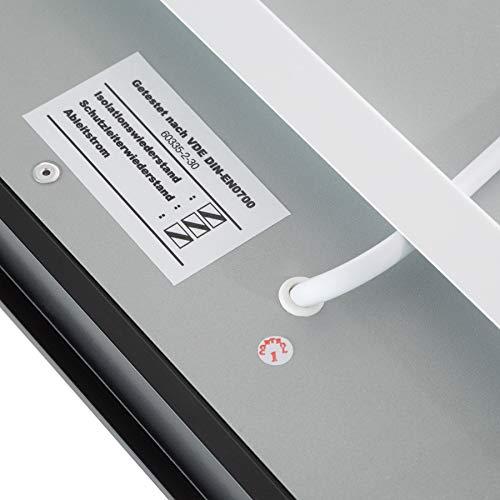TecTake Spiegel Infrarotheizung Spiegelheizung ESG Glas Elektroheizung Infrarot Heizkörper Heizung inkl. Wandhalterung – diverse Modelle – (700 W | 93x62x4 cm | Nr. 402466) Bild 5*