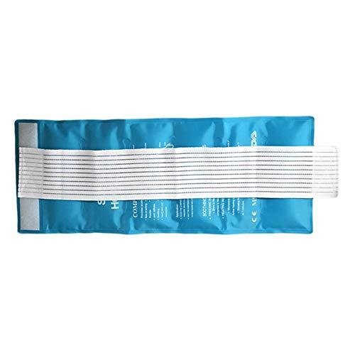 Gel-Eisbeutel, tragbar, wiederverwendbar, für heiße Kälte, multifunktional, flexibel, zur Linderung von Knie, Ellenbogen, Gelenk, Arthritis, Verletzungen, keine Tropfen, 47 x 17 cm, unisex, himmelblau -