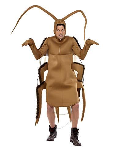 Kakerlake Kostüm Braun Bodysuit mit Ärmeln, One - Kakerlake Kostüm