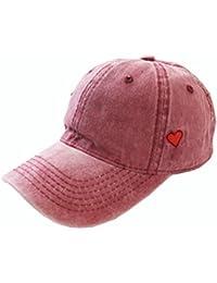 Gespout.1 unids Gorra de Béisbol de Color Sólido Amor Visera Sombrero Para  Sol al 054d233845c