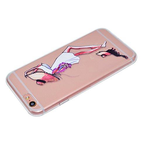 Per iPhone 6 Plus / iPhone 6S Plus Cover , YIGA mondo ragazza Sottile Cristallo Chiaro Case Trasparente Silicone Morbido TPU Custodia per Apple iPhone 6 Plus iPhone 6S Plus (5.5) TT16