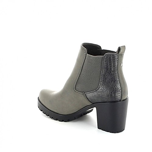 Chelsea boots crantée Gris
