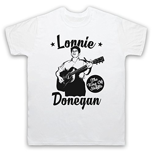 Lonnie Donegan The King Of Skiffle Herren T-Shirt Weis
