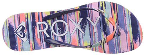 Roxy Mimosa V J, Tongs Femme Multicolore (Chambray)