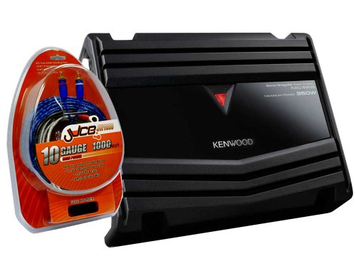 Kenwood KAC-5205 350 W Amplificatore a 2 canali, 10 Gauge con cablaggio kti