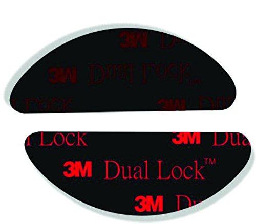 Quattroerre 1642 dual lock telepass sistema di fissaggio richiudibile 2 pezzi, nero
